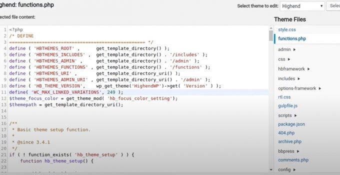 Úprava kódu cez editor tém